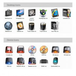 Carbon - Iconpackager Theme - Desktop and device icons