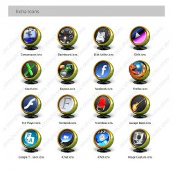 Uniq 2 - Green Icons for Mac