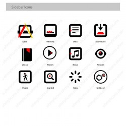 Bauhaus icon theme for Mac