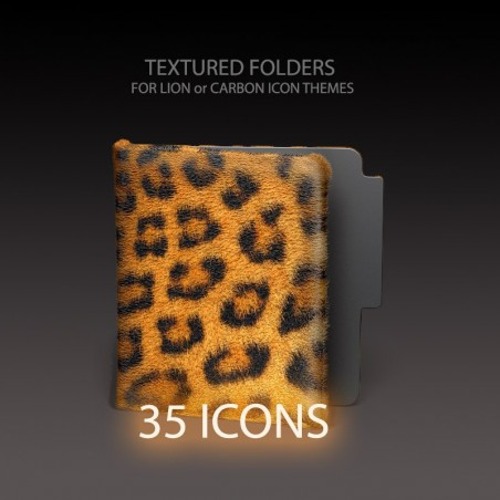 Textured Icon Folders - Lion or Carbon Style
