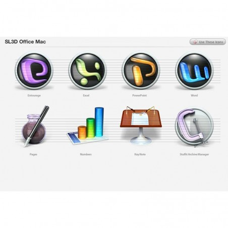 Office Mac Icons - Snow Leopard 3D