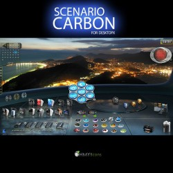 Scenario Carbon - DesktopX theme