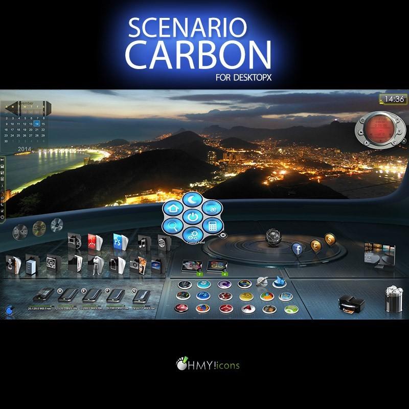 Scenario Carbon - DesktopX theme