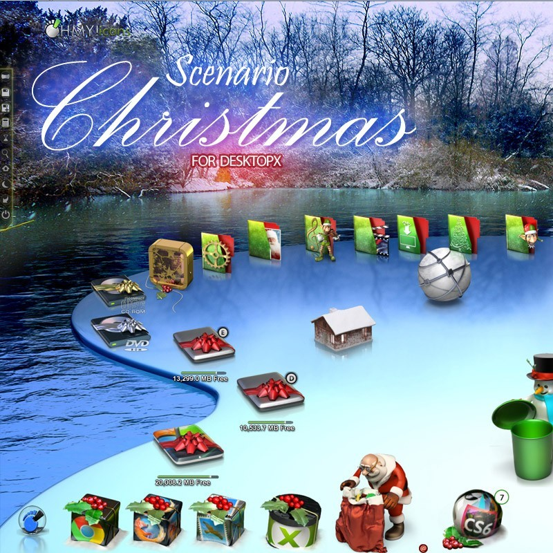 Scenario Christmas - DesktopX theme