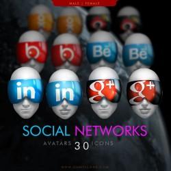 Social Network Avaticons