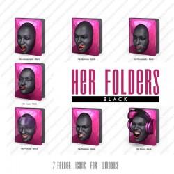Her Folders - Black
