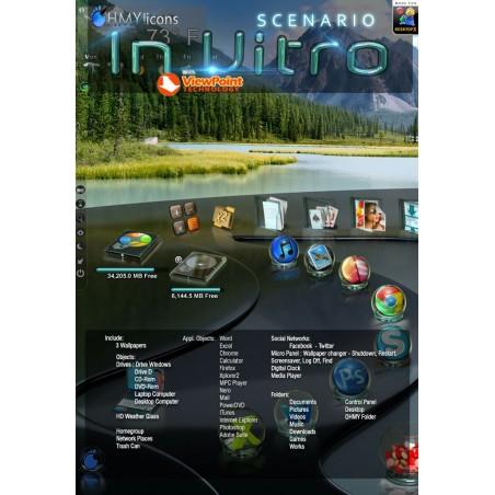 Scenario InVitro - Glass DesktopX theme