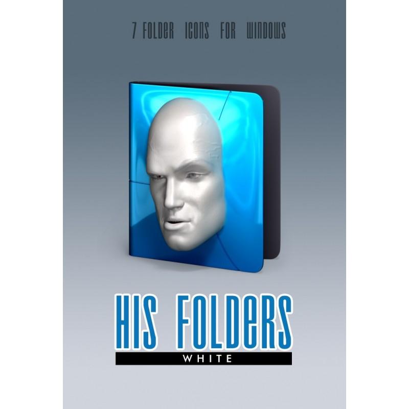 His Folders - White