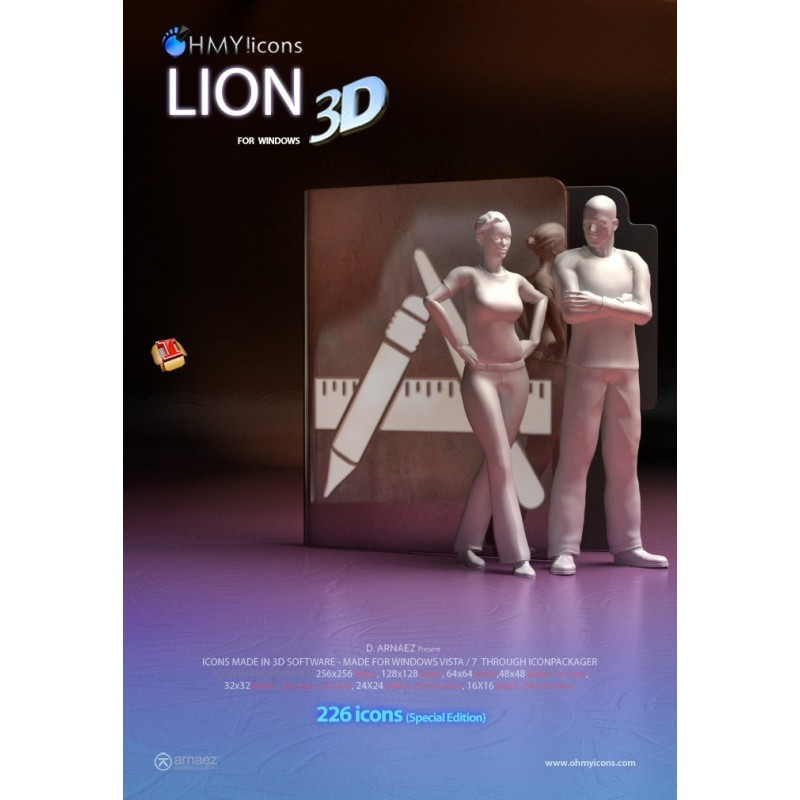 Lion 3D - Iconpackager Theme