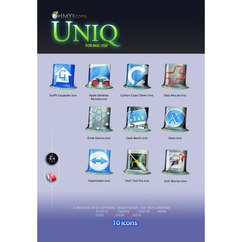 Uniq Tools & Admin apps OSX
