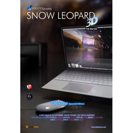 Snow Leopard 3D Mac