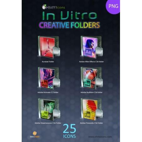 In Vitro Creative Folders (PNG)