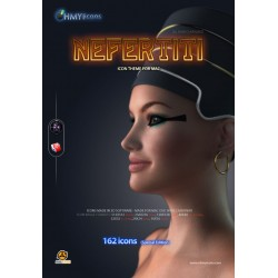 Nefertiti - Female Egyptian Icons for Mac