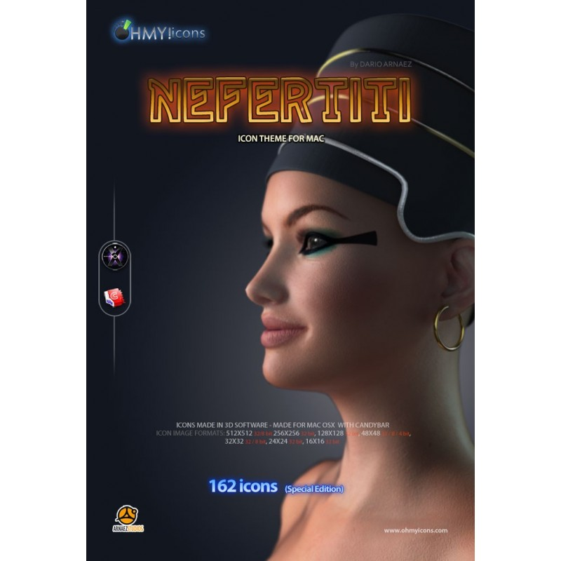 Nefertiti - Female Egyptian Icons for Mac