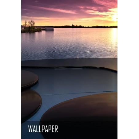 Sunset Lake - 4K Wallpaper